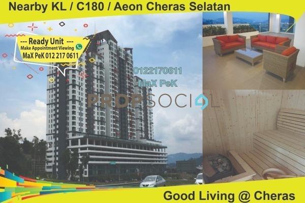 For Rent Condominium at Silk Residence, Bandar Tun Hussein Onn Freehold Semi Furnished 3R/2B 1.1k
