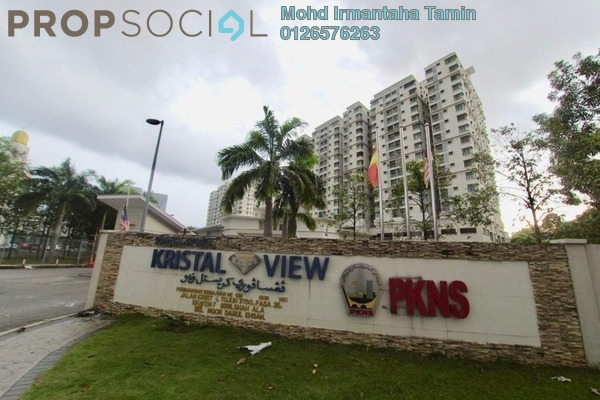 Condominium For Sale in Kristal View, Shah Alam Leasehold Semi Furnished 3R/2B 445k