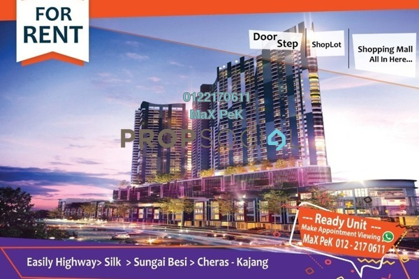 For Rent Condominium at Symphony Tower, Balakong Freehold Fully Furnished 3R/2B 1.9k