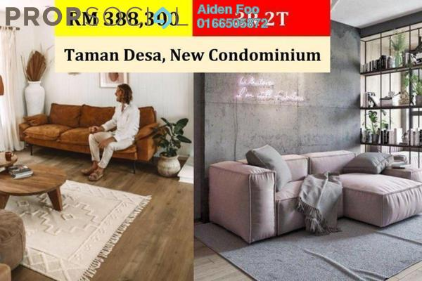 Condominium For Sale in Taman Desa Seputeh, Seputeh Freehold Unfurnished 3R/2B 388k