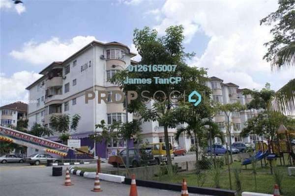 Apartment For Sale in Dahlia Apartment, Pandan Indah Freehold Semi Furnished 3R/2B 288k