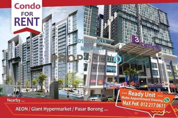For Rent SoHo/Studio at 3Elements, Bandar Putra Permai Freehold Semi Furnished 1R/1B 1.05k