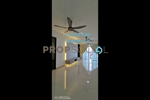 Serviced Residence For Rent in Symphony Tower, Balakong Freehold Semi Furnished 3R/3B 1.2k