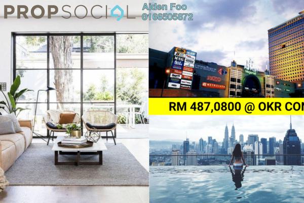 Condominium For Sale in Platinum Arena, Old Klang Road Freehold Semi Furnished 3R/2B 488k
