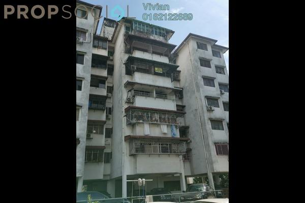 Apartment For Rent in Bukit Gembira Apartment, Kuchai Lama Freehold Semi Furnished 3R/1B 1.1k