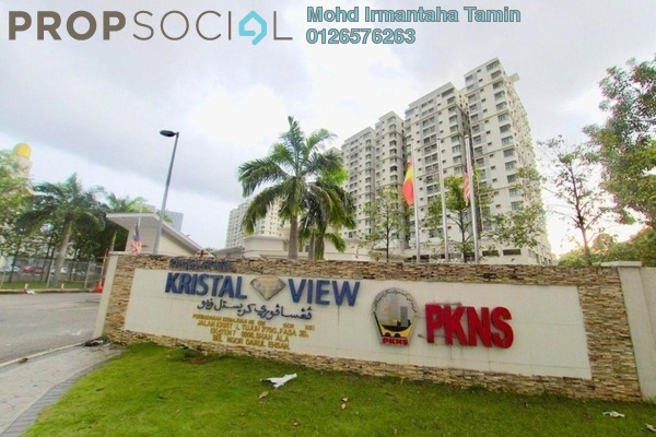 Condominium For Sale in Kristal View, Shah Alam Freehold Semi Furnished 3R/2B 479k