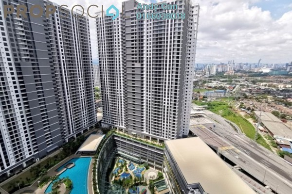 For Rent Serviced Residence at United Point Residence, Segambut Freehold Semi Furnished 3R/2B 1.6k
