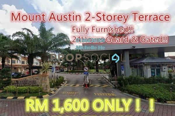 Terrace For Rent in Taman Mount Austin, Tebrau Freehold Fully Furnished 4R/2B 1.65k