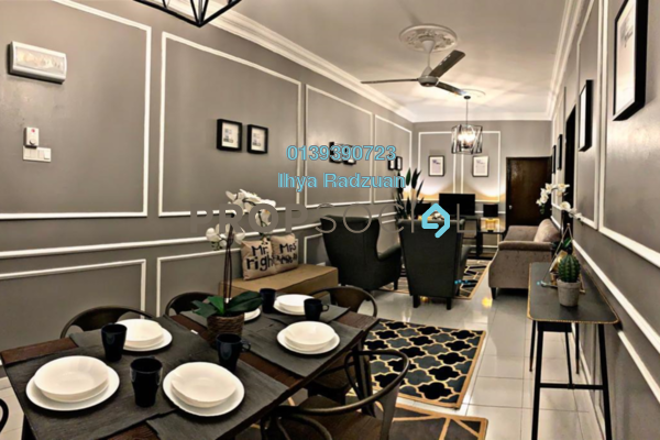 For Sale Apartment at Bukit Saujana, Paya Terubong Freehold Fully Furnished 3R/2B 300k