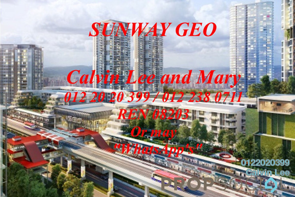 Condominium For Sale in Sunway GEO Residences, Bandar Sunway Leasehold unfurnished 2R/2B 800k