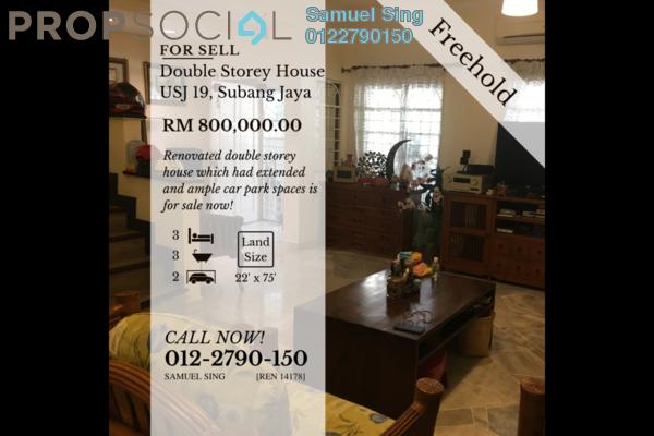 Terrace For Sale in USJ 19, UEP Subang Jaya Freehold semi_furnished 3R/3B 800k