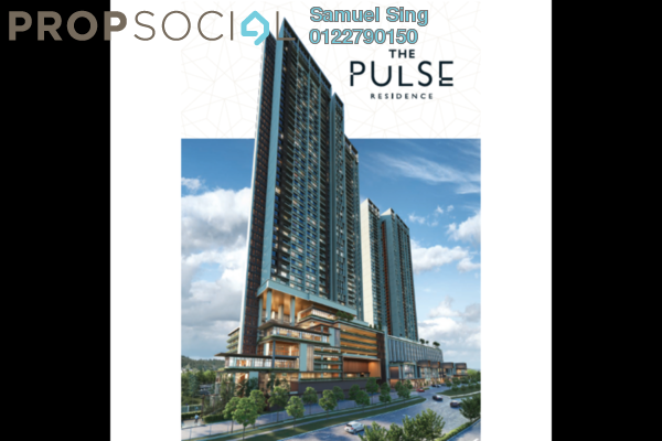 Condominium For Sale in The Pulse Residence, Bandar Puchong Jaya Freehold semi_furnished 2R/2B 622k