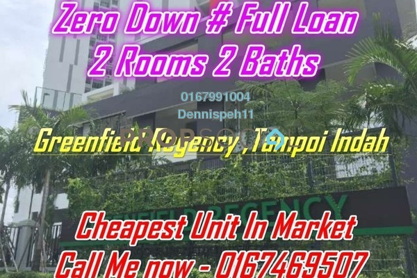 Condominium For Sale in Greenfield Regency, Skudai Freehold Unfurnished 2R/2B 310k