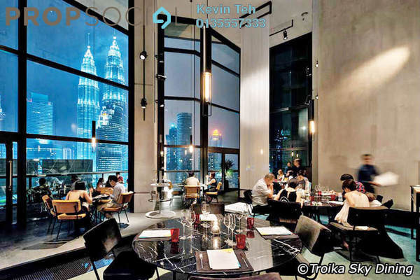 Condominium For Sale in The Troika, KLCC Freehold Semi Furnished 4R/4B 7.5m