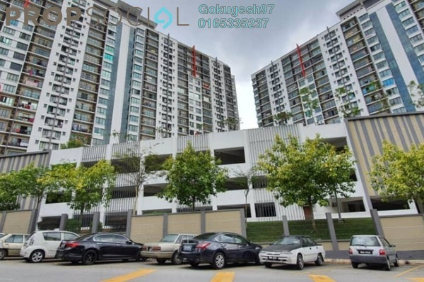 Condominium For Rent in V-Residensi, Selayang Heights Freehold semi_furnished 3R/2B 1.4k