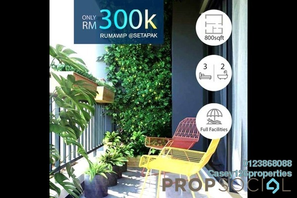 Condominium For Sale in SkyAwani 4, Setapak Leasehold Unfurnished 3R/2B 300k