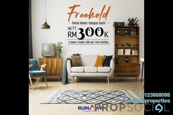 Condominium For Sale in Circo @ Pantai Dalam, Pantai Freehold Unfurnished 3R/2B 300k