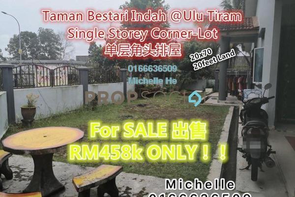 Terrace For Sale in Taman Bestari Indah, Ulu Tiram Freehold Fully Furnished 3R/2B 458k