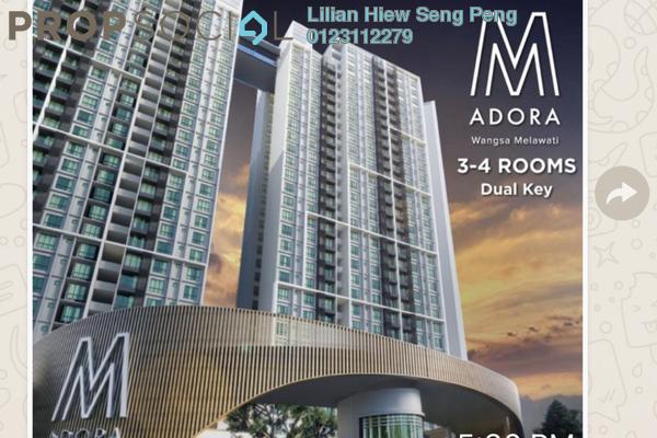 Condominium For Sale in M Adora, Wangsa Maju Freehold Semi Furnished 3R/2B 458k
