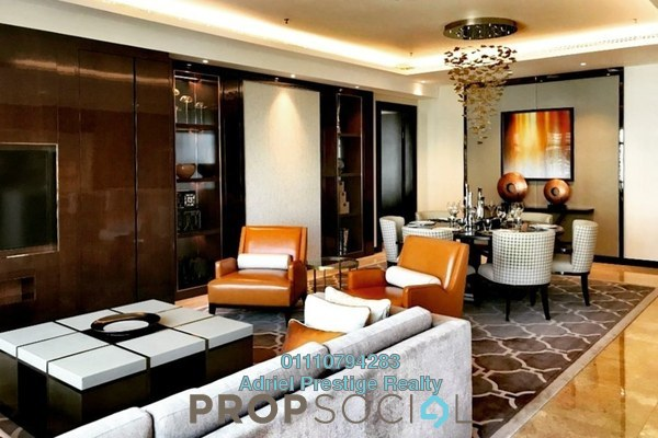 Serviced Residence For Sale in The Ritz-Carlton Residences, KLCC Freehold Semi Furnished 1R/1B 2.2m