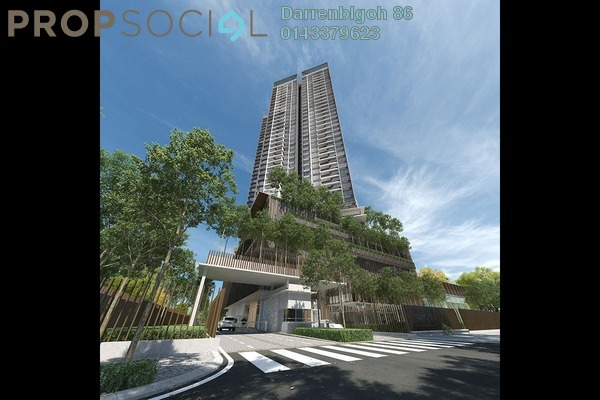 Condominium For Sale in Stonor 3, KLCC Freehold Semi Furnished 2R/2B 1.35m
