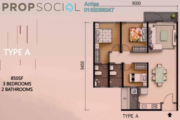 Condominium For Sale in M Adora, Wangsa Maju Freehold Unfurnished 3R/2B 460k