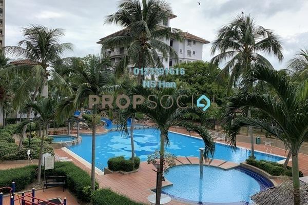 Serviced Residence For Sale in Mahkota Hotel Apartment, Bandar Melaka Leasehold Fully Furnished 2R/2B 280k