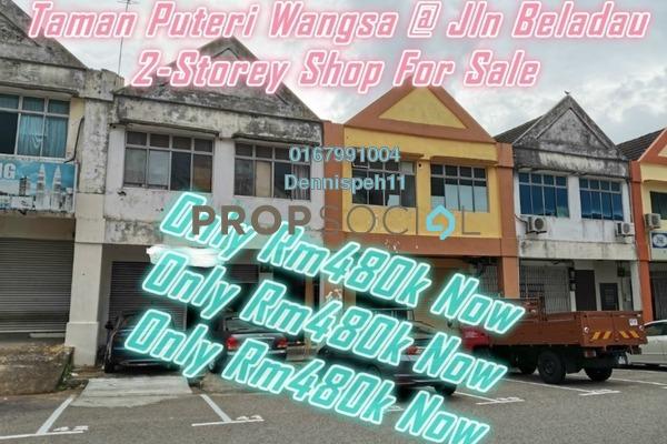 Shop For Sale in Taman Puteri Wangsa, Ulu Tiram Freehold Unfurnished 2R/4B 480k
