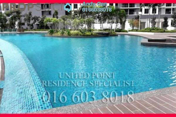 For Rent Serviced Residence at United Point Residence, Segambut Freehold Semi Furnished 3R/2B 1.8k