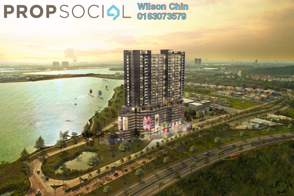 Condominium For Sale in Saville @ D'Lake, Puchong Freehold Semi Furnished 1R/1B 370k