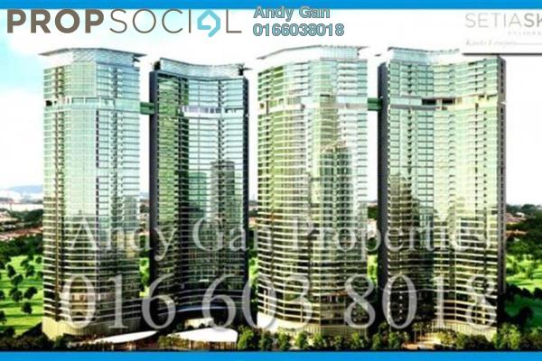 Condominium For Sale in Setia Sky Residences, KLCC Freehold Semi Furnished 2R/2B 1.36m