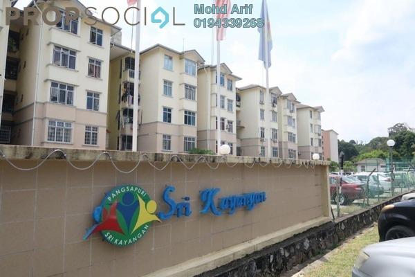 Apartment For Sale in Sri Kayangan Apartment, Ukay Freehold Semi Furnished 3R/2B 260k