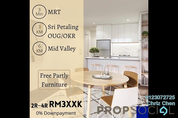 For Sale Serviced Residence at Kuchai Sentral, Kuchai Lama Freehold Semi Furnished 1R/1B 388k
