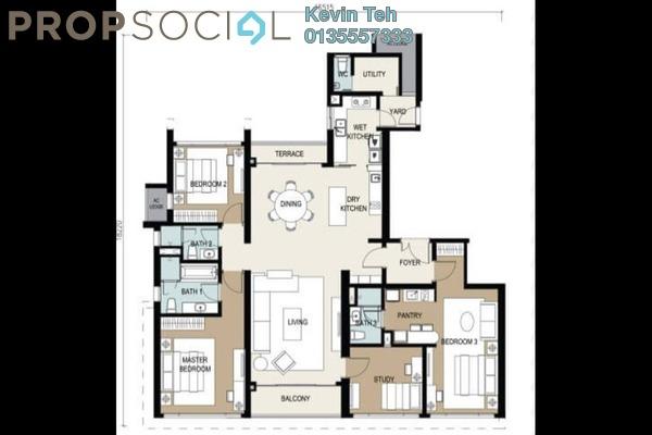 Condominium For Rent in Agile Mont Kiara, Dutamas Freehold Semi Furnished 4R/3B 8.5k