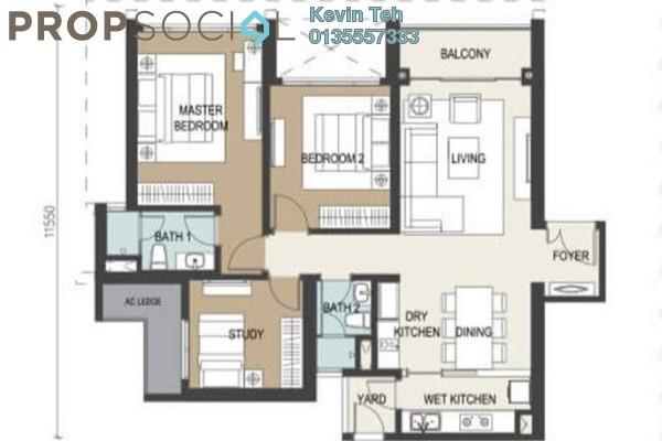 Condominium For Rent in Agile Mont Kiara, Dutamas Freehold Semi Furnished 3R/2B 4.5k