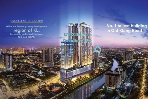 Condominium For Sale in BloomsVale, Old Klang Road Freehold Fully Furnished 3R/2B 520k
