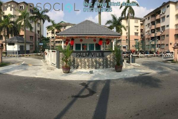 Apartment For Sale in Palm Ville, Bandar Kinrara Freehold Unfurnished 3R/2B 280k