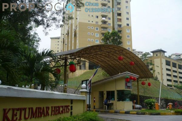 Apartment For Sale in Ketumbar Heights, Cheras Freehold Semi Furnished 3R/2B 375k