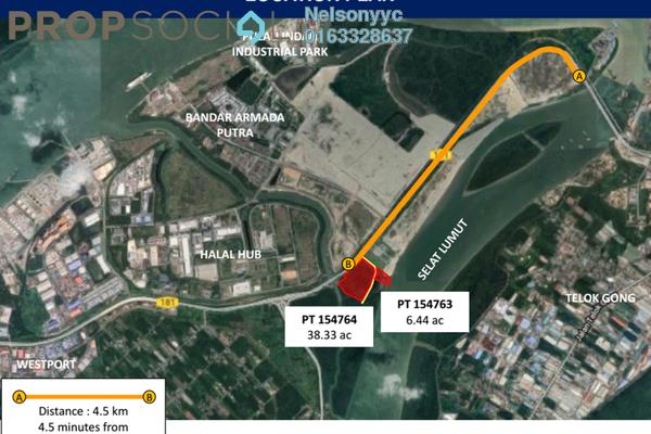 Land For Sale in Pulau Indah Industrial Park, Port Klang Leasehold Unfurnished 0R/1B 97.5m