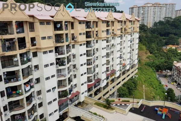For Rent Apartment at Ixora Apartment, Kepong Freehold Unfurnished 3R/2B 700translationmissing:en.pricing.unit