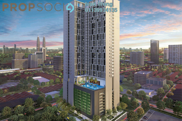 For Sale Condominium at Chambers Kuala Lumpur, Chow Kit Freehold Fully Furnished 1R/1B 419k