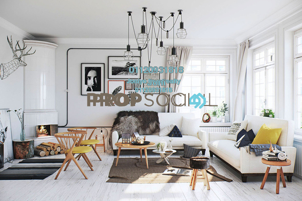 Condominium For Sale in Cantara Residences, Ara Damansara Freehold Semi Furnished 1R/1B 370k