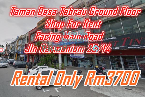 Shop For Rent in Taman Desa Tebrau, Tebrau Freehold Unfurnished 0R/2B 3.7k