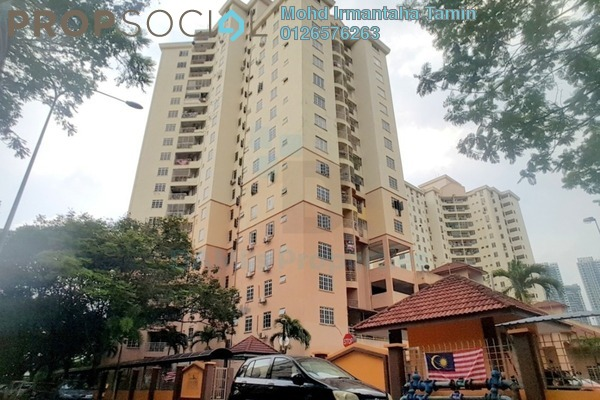 For Rent Apartment at Zamrud Apartment, Old Klang Road Freehold Semi Furnished 3R/2B 1.2k