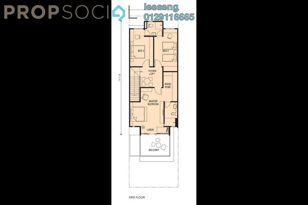 Terrace For Sale in Taman Titi Heights, Balik Pulau Freehold Unfurnished 3R/4B 650k