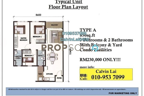 For Sale Apartment at OUG Square, Old Klang Road Freehold Unfurnished 3R/2B 230k
