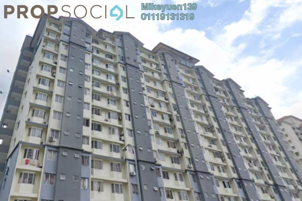 Apartment For Sale in Lestari Apartment, Bandar Sri Permaisuri Freehold Semi Furnished 3R/2B 220k
