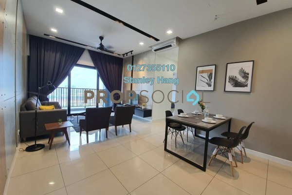 For Rent Condominium at Le Pavillion, Bandar Puteri Puchong Freehold Fully Furnished 3R/2B 3.2k