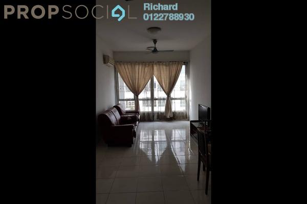 For Rent Condominium at Casa Tiara, Subang Jaya Freehold Semi Furnished 3R/2B 1.6k
