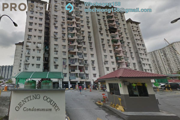 For Sale Condominium at Genting Court, Setapak Freehold Semi Furnished 3R/2B 228k